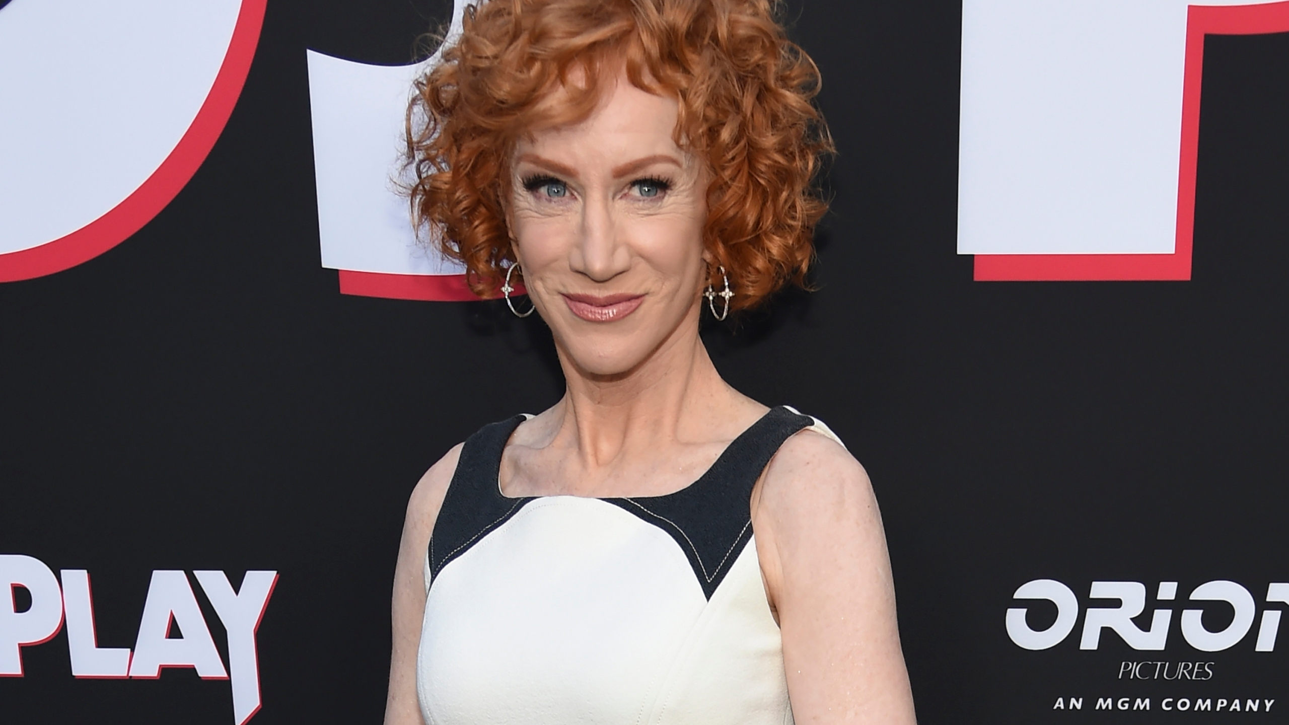 """Comedian Kathy Griffin appears at the premiere of the film """"Child's Play"""" in Los Angeles on June 19, 2019. (Chris Pizzello/Invision/AP, File)"""