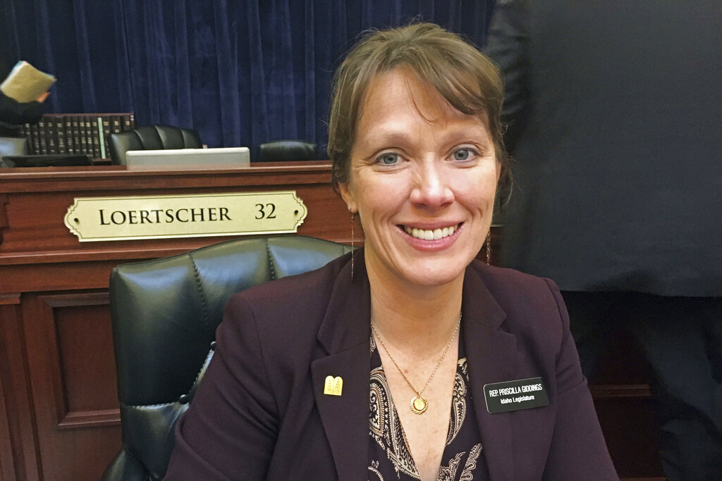 In this March 1, 2018, file photo, Idaho Republican state Rep. Priscilla Giddings sits at the Capitol in Boise. (AP Photo/Kimberlee Kruesi, File)
