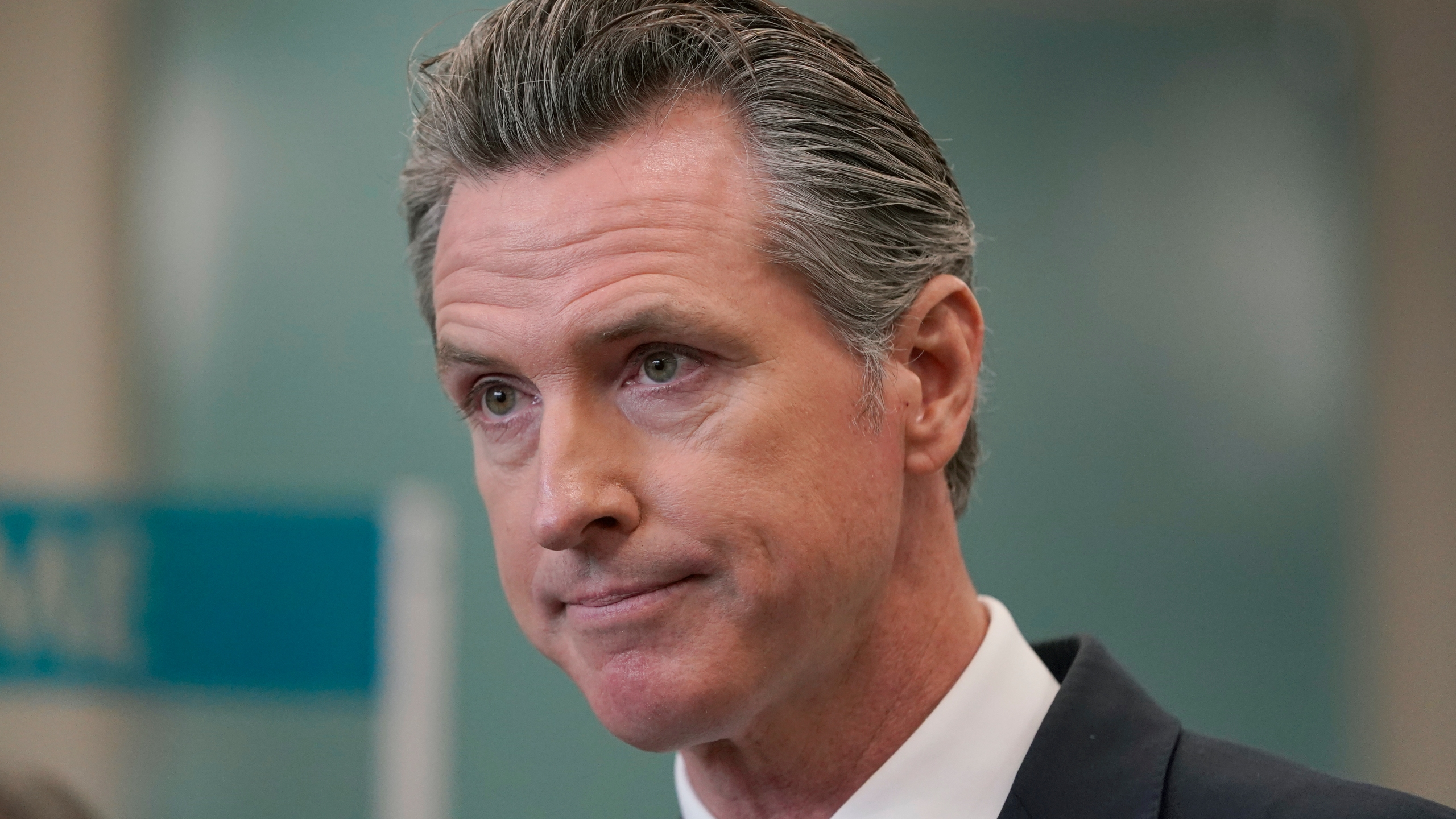 In this July 26, 2021, file photo, Gov. Gavin Newsom appears at a news conference in Oakland. (Jeff Chiu/Associated Press)