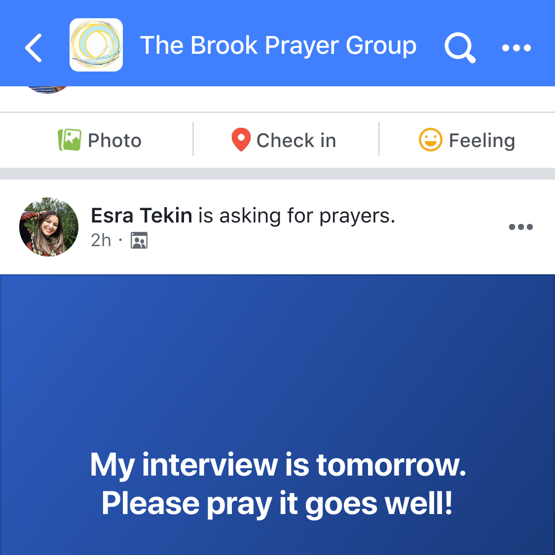 This image provided by Facebook in August 2021 shows a simulation of the social media company's prayer request feature. The tool has been embraced by some religious leaders as a cutting-edge way to engage the faithful online. Others are eyeing it warily as they weigh its usefulness against the privacy and security concerns they have with Facebook. (Facebook via AP)