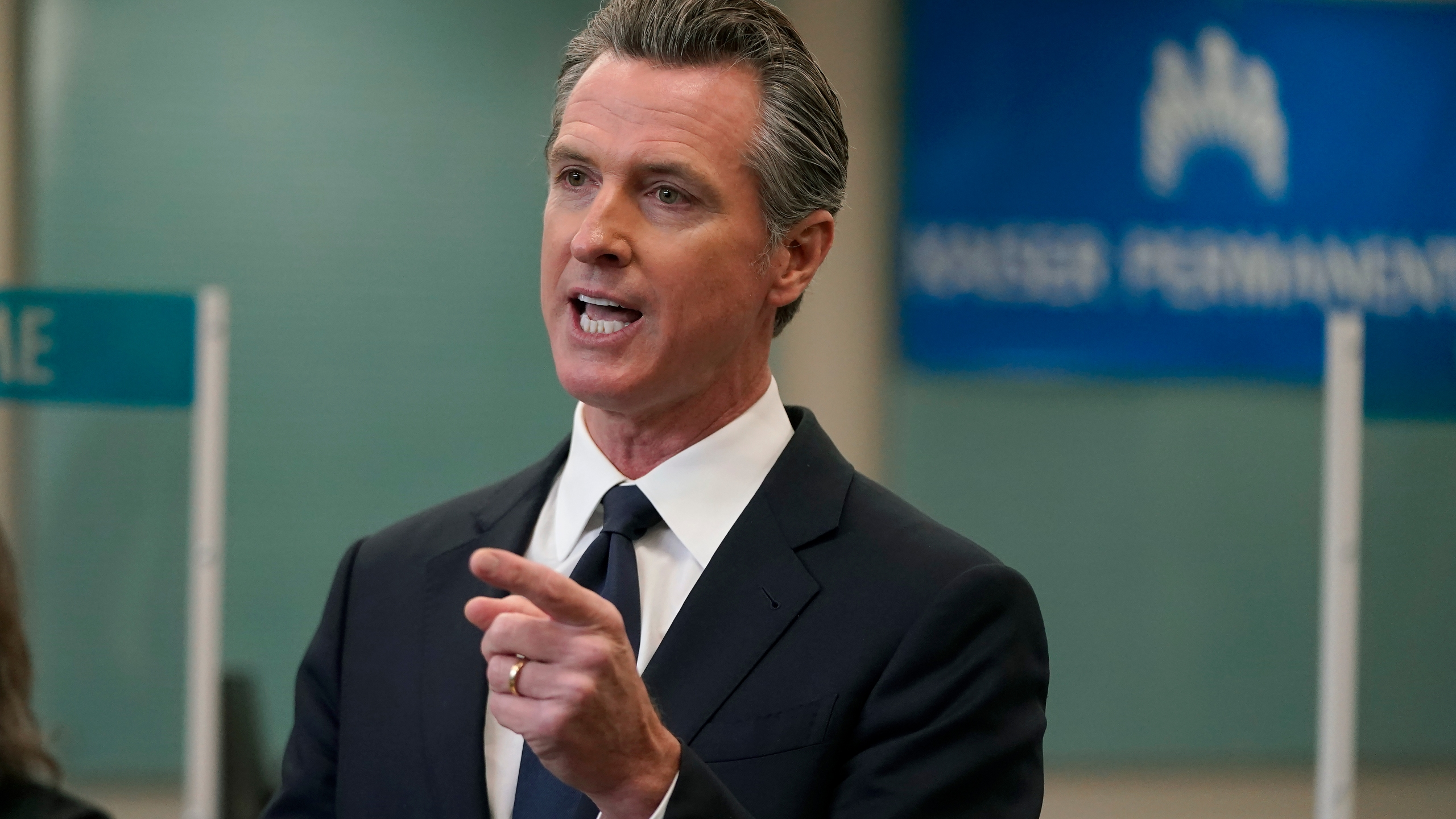 In this July 26, 2021 file photo Gov. Gavin Newsom speaks at a news conference in Oakland, Calif. Newsom's administration announced $350 million in incentives aimed at convincing people on Medicaid to get vaccinated against the coronavirus, Friday, Aug. 6, 2021. (AP Photo/Jeff Chiu, File)