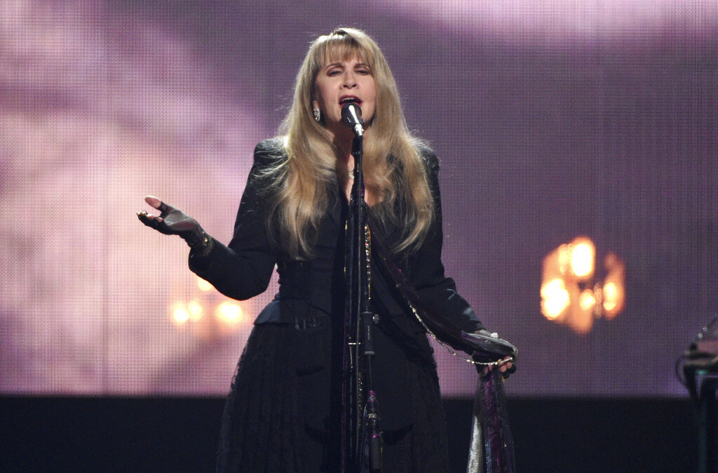Inductee Stevie Nicks performs at the Rock & Roll Hall of Fame induction ceremony on March 29, 2019, in New York. (Evan Agostini/Invision/AP, File)
