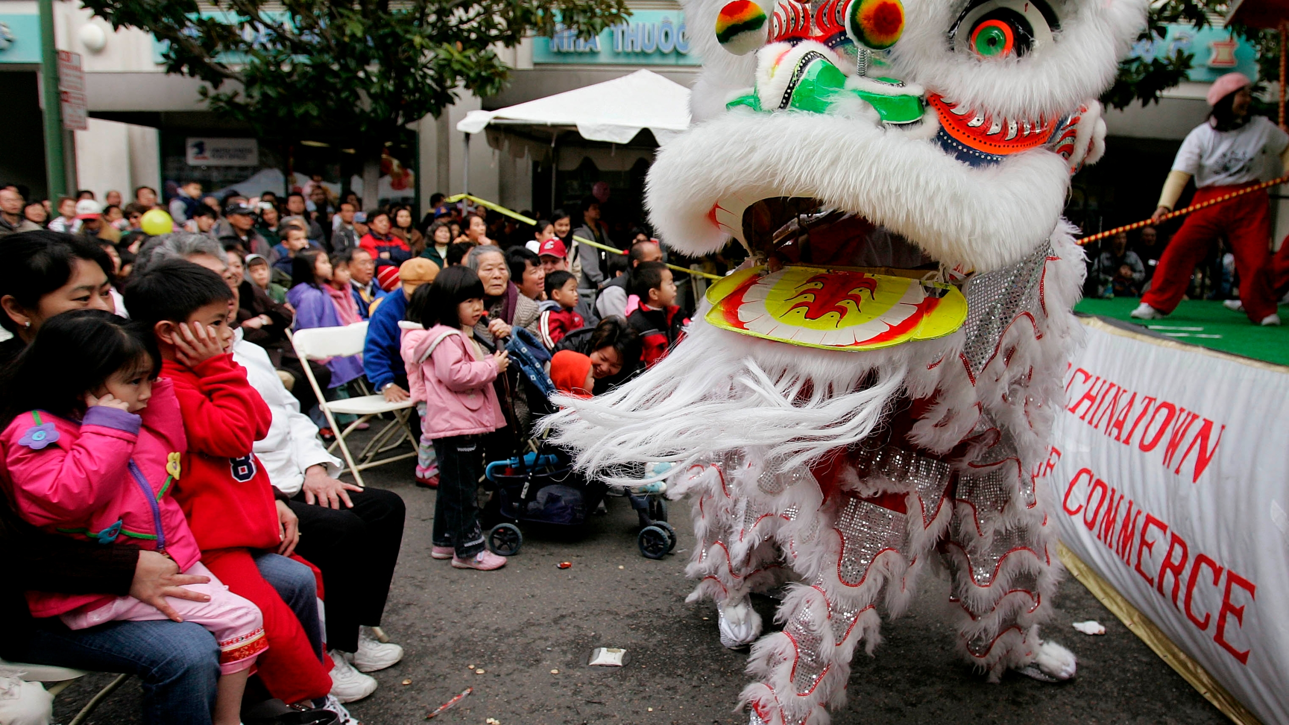 In this Jan. 21, 2006, file photo, Chinese lion dancers perform in Oakland's Chinatown in Oakland, Calif. According to new data from the U.S. Census Bureau released Thursday, Aug. 12, 2021, California's Asian population grew by 25% in the past decade, making them the fastest growing ethnic group in the nation's most populous state. (AP Photo/Paul Sakuma, File)