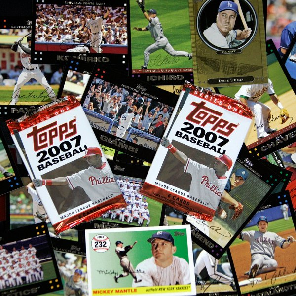 In this March 6, 2007 file photo, Topps baseball cards are seen in Boston. (Chitose Suzuki/Associated Press)