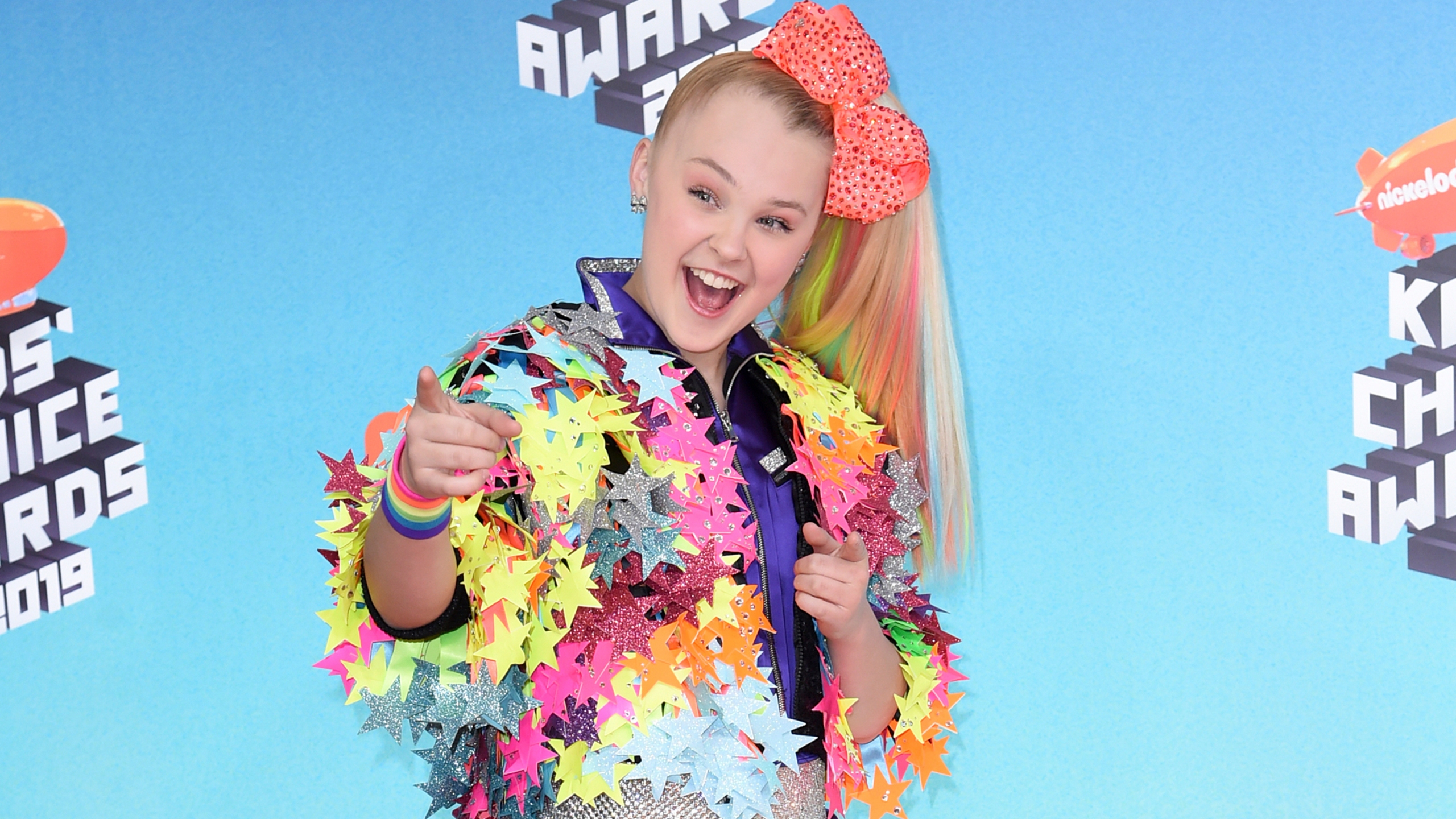 JoJo Siwa arrives at the Nickelodeon Kids' Choice Awards on March 23, 2019, In Los Angeles. (Richard Shotwell/Invision/AP, File)