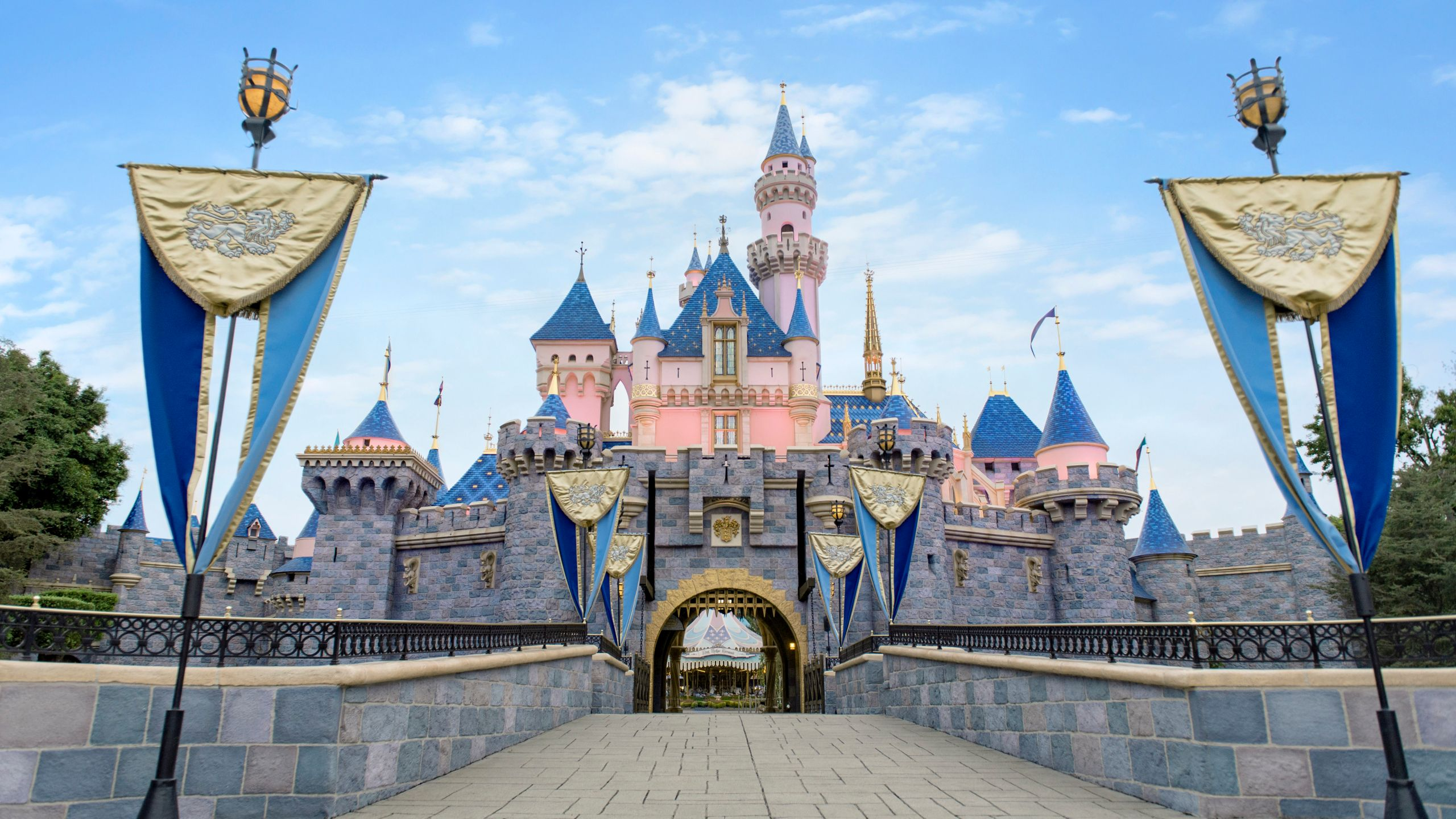 Sleeping Beauty Castle at Disneyland is seen in this photo distributed on Aug. 3, 2021. (Disneyland Resort)