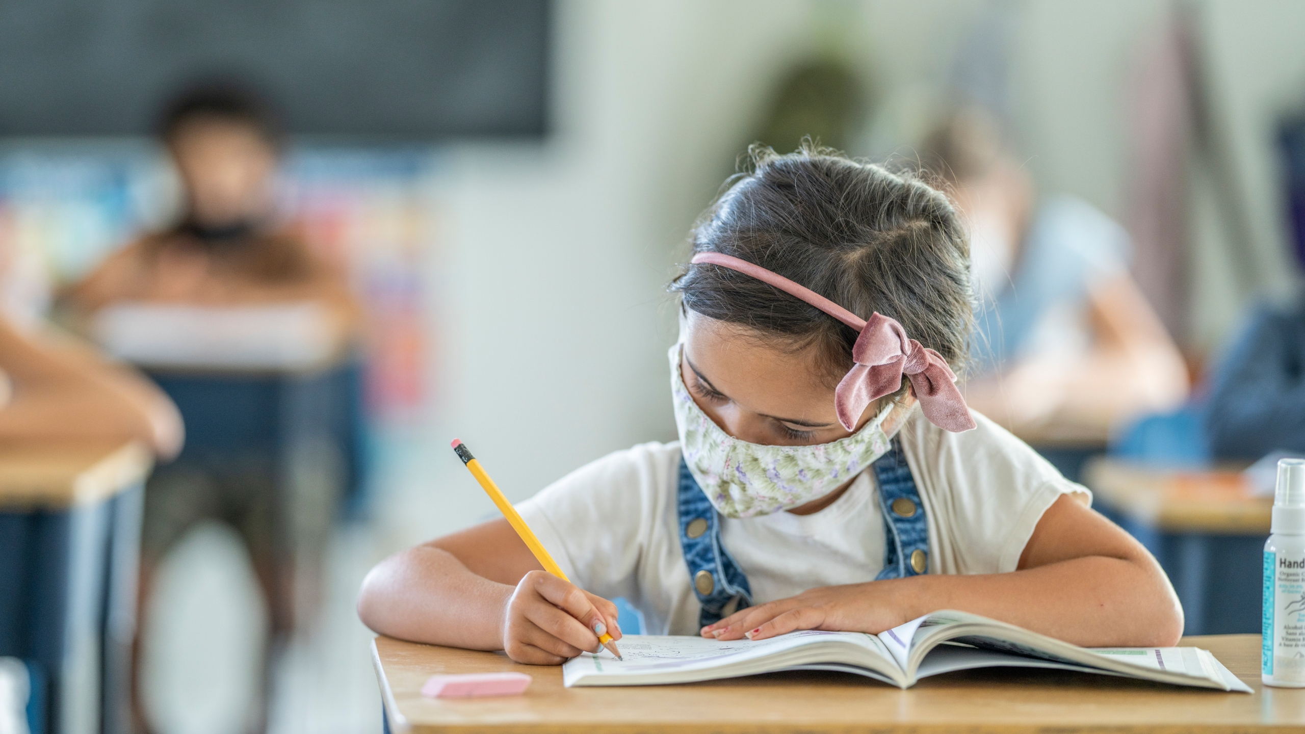This undated file photo shows a student working in a classroom. (Getty Images)