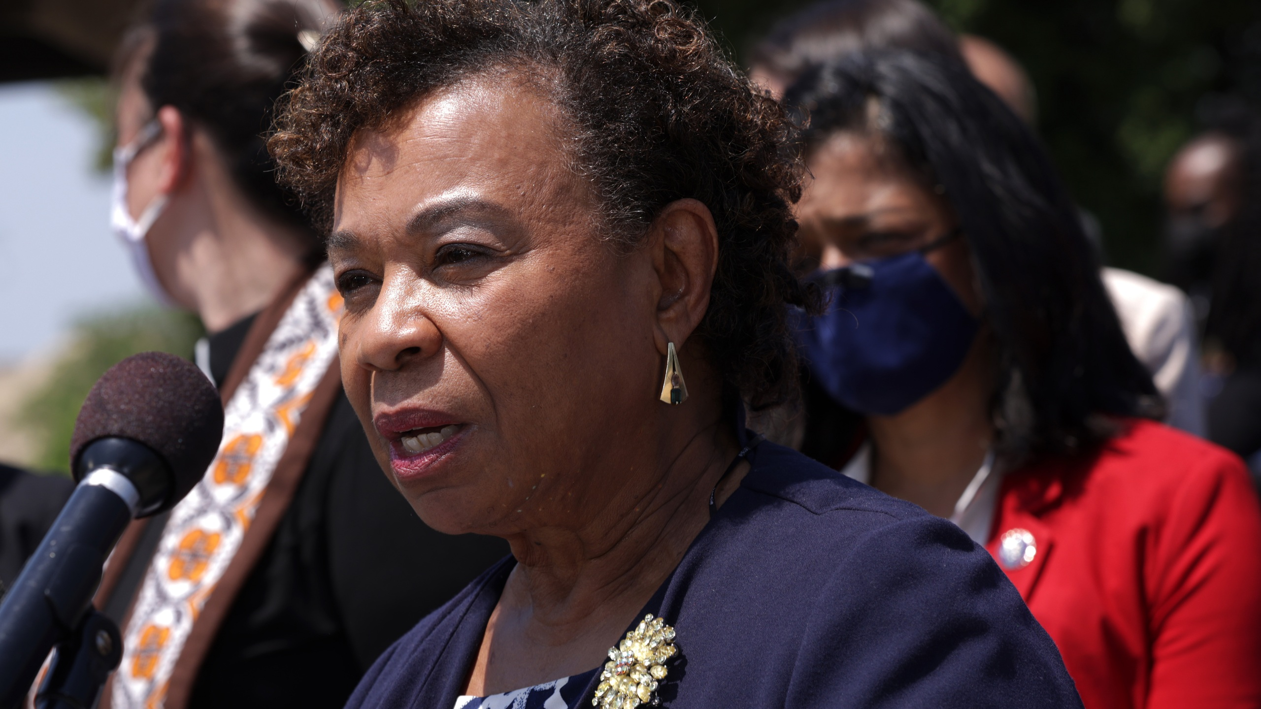 U.S. Rep. Barbara Lee (D-CA) participates in a news conference outside the U.S. Capitol May 20, 2021 in Washington, DC. (Alex Wong/Getty Images)