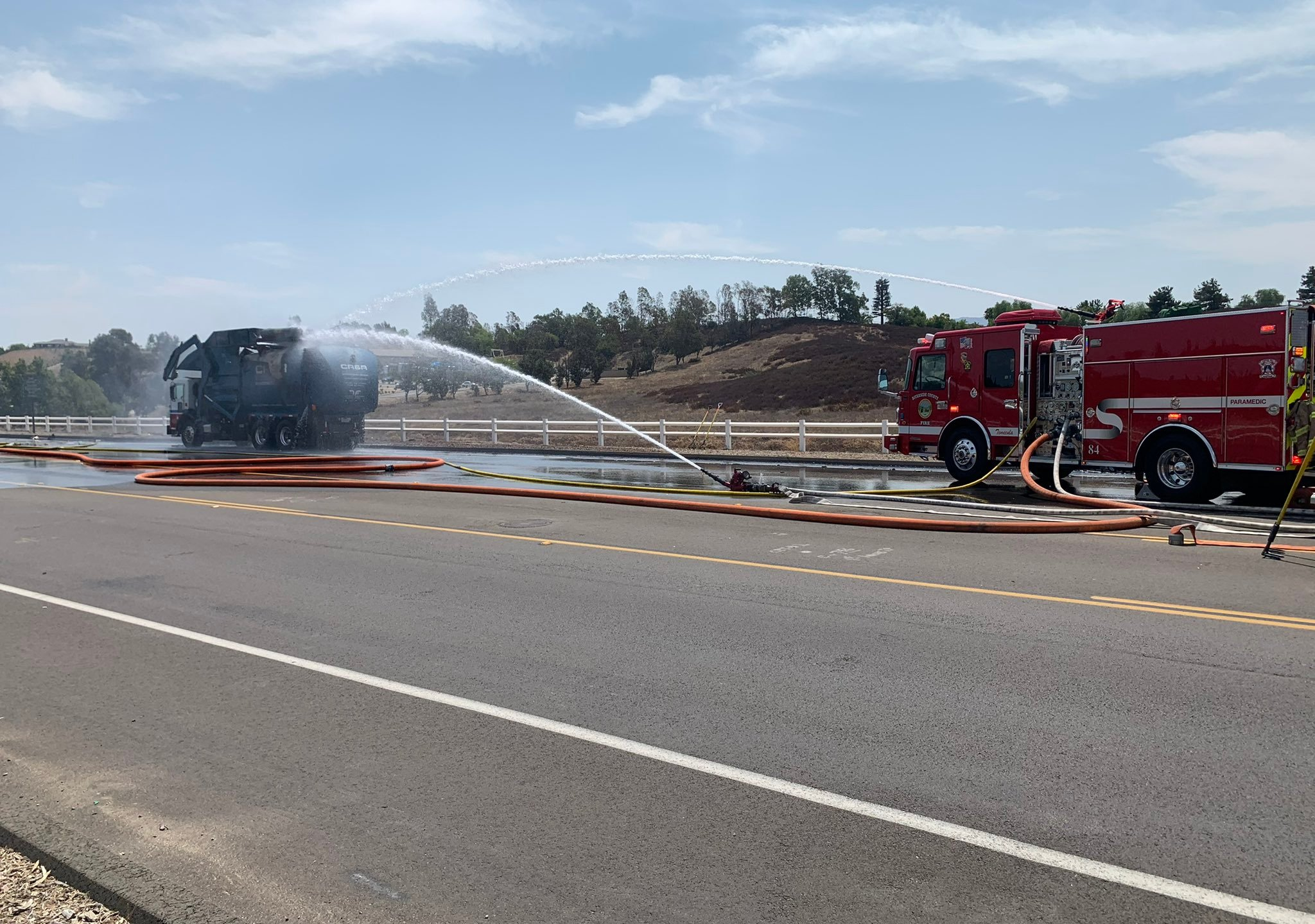 Thirteen people were hurt when a propane tank exploded on Aug. 16, 2021. (CAL FIRE and Riverside County Fire Department)
