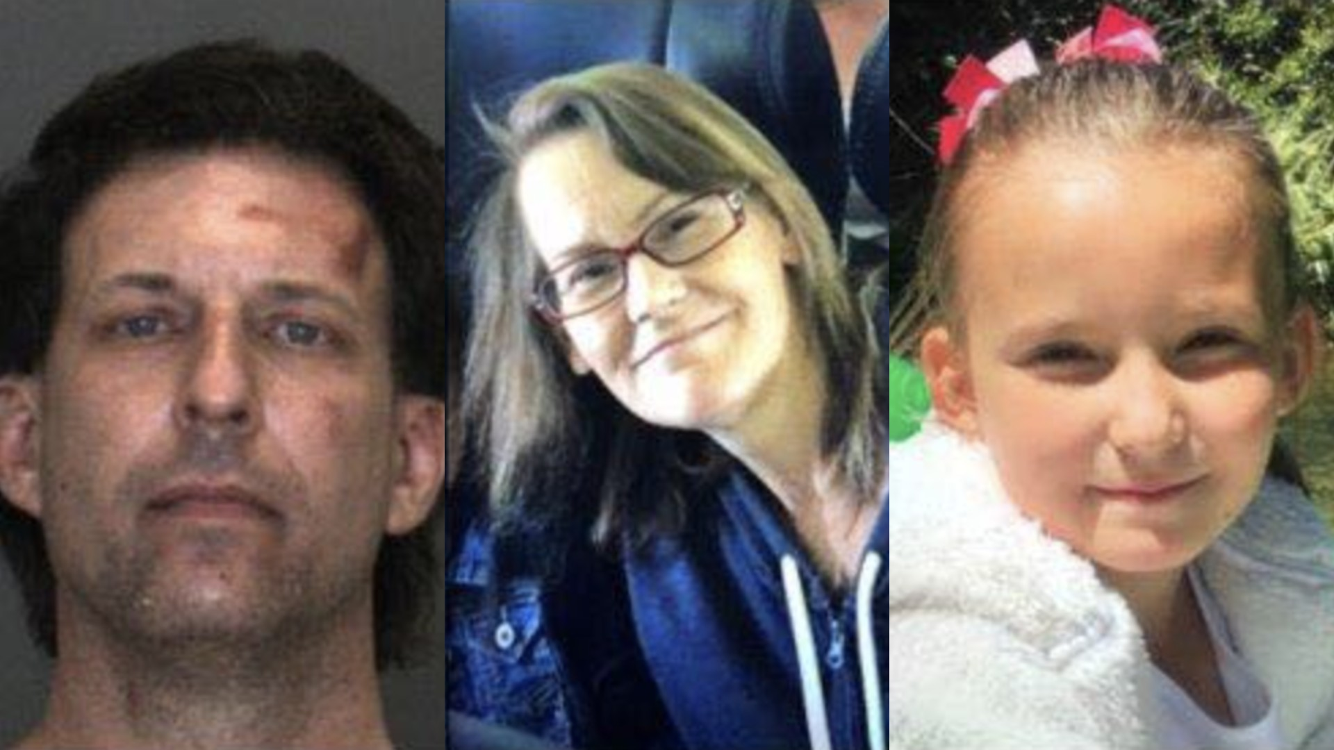 John Roberts, 49, Julie Englehart, 49, and their daughter, Brooke Roberts, 11, are seen in images provided by the San Bernardino County Sheriff's Department.