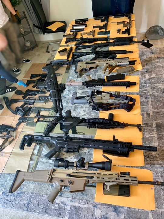 Several firearms were seized while detectives investigated the shooting death of David Hernandez. (OCSD)