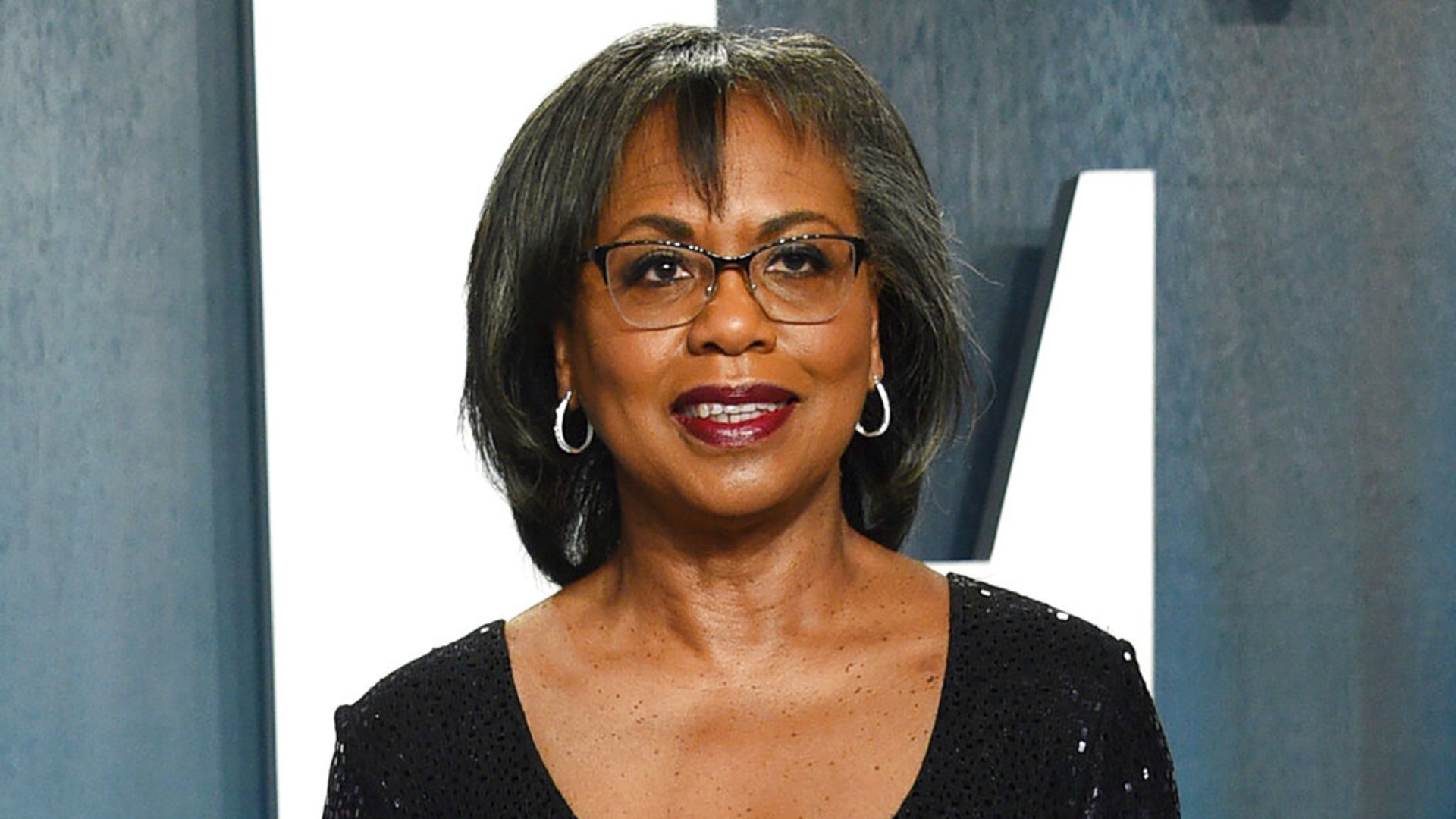 In this Feb. 9, 2020, file photo, Anita Hill arrives at the Vanity Fair Oscar Party in Beverly Hills, Calif. (Photo by Evan Agostini/Invision/AP, File)