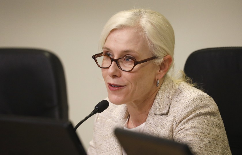 Fire Commissioner Rebecca Ninburg is seen in a 2018 file photo. (Los Angeles Times)