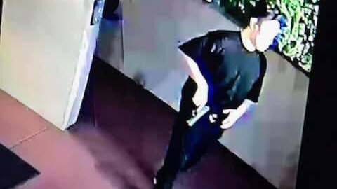 A man fatally shot in a confrontation outside the La Habra police station is seen in a surveillance image released by the department on Aug. 7, 2021.