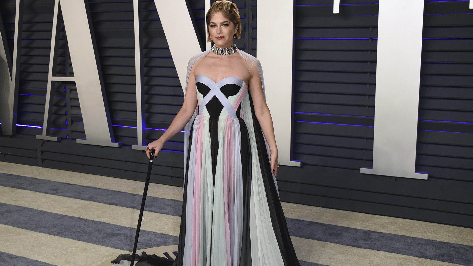 Selma Blair arrives at the Vanity Fair Oscar Party on Feb. 24, 2019, in Beverly Hills, Calif. (Evan Agostini/Associated Press
