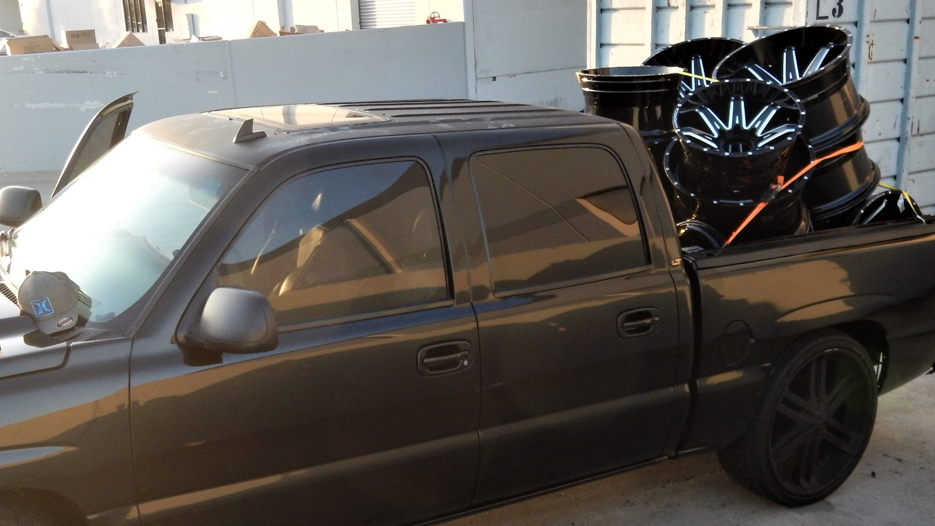 Irwindale police released this image of the truck packed with alleged stolen rims.