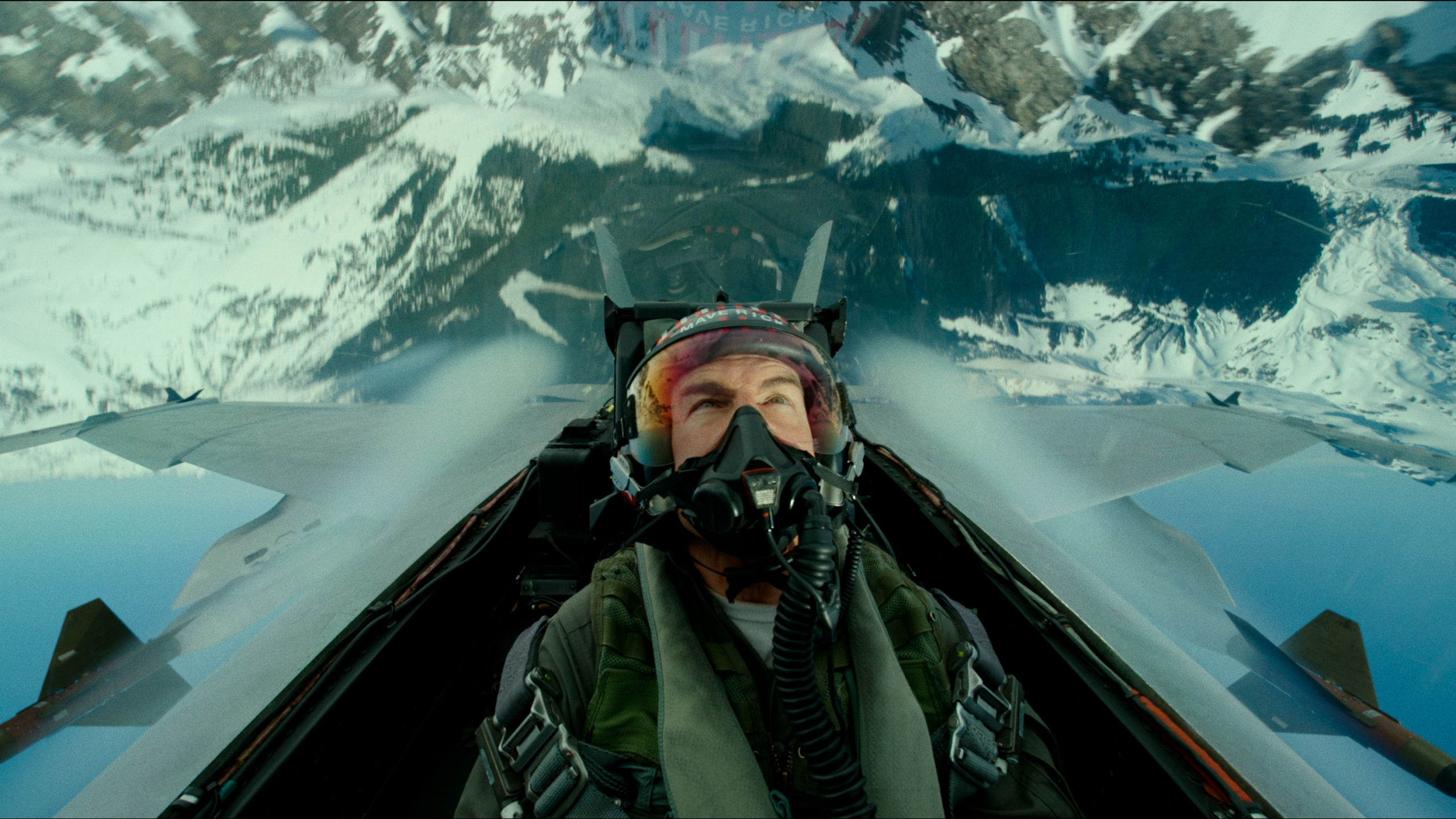 """This image released by Paramount Pictures shows Tom Cruise portraying Capt. Pete """"Maverick"""" Mitchell in a scene from """"Top Gun: Maverick."""" (Paramount Pictures via Associated Press)"""