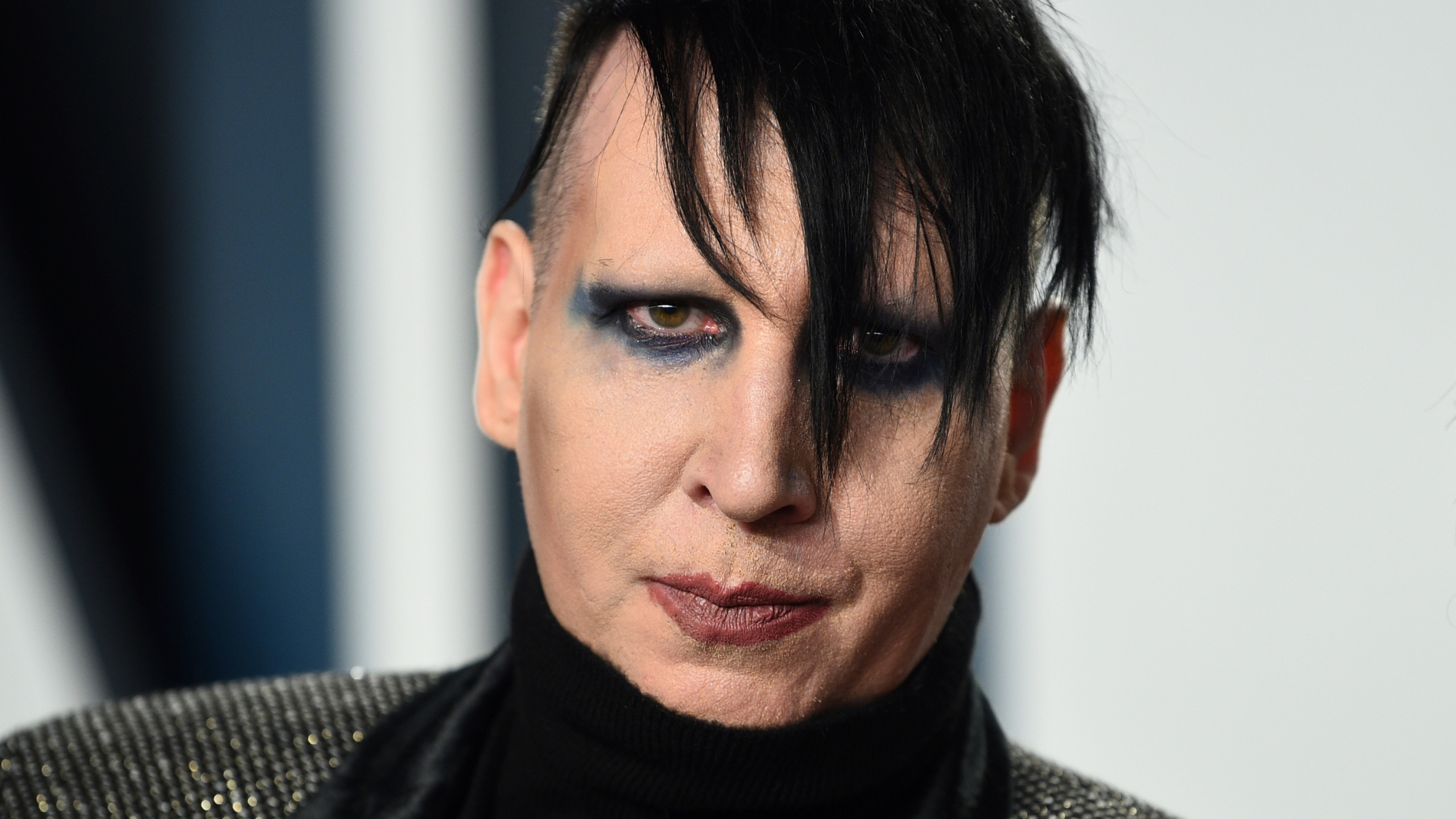 Marilyn Manson arrives at the Vanity Fair Oscar Party on Feb. 9, 2020, in Beverly Hills, Calif. (Evan Agostini/Invision/AP, File)