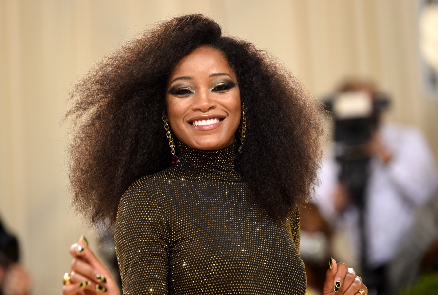 """Keke Palmer attends The Metropolitan Museum of Art's Costume Institute benefit gala celebrating the opening of the """"In America: A Lexicon of Fashion"""" exhibition on Sept. 13, 2021, in New York. (Evan Agostini/Invision/AP)"""