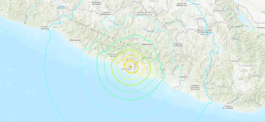 A 7.0 earthquake shook Acapulco and could be felt in Mexico City on Sept. 7, 2021. (USGS)