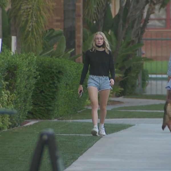 Chapman University, the campus of which is shown on Sept. 24, 2021, students are worried about an attempted sexual assault. (KTLA)