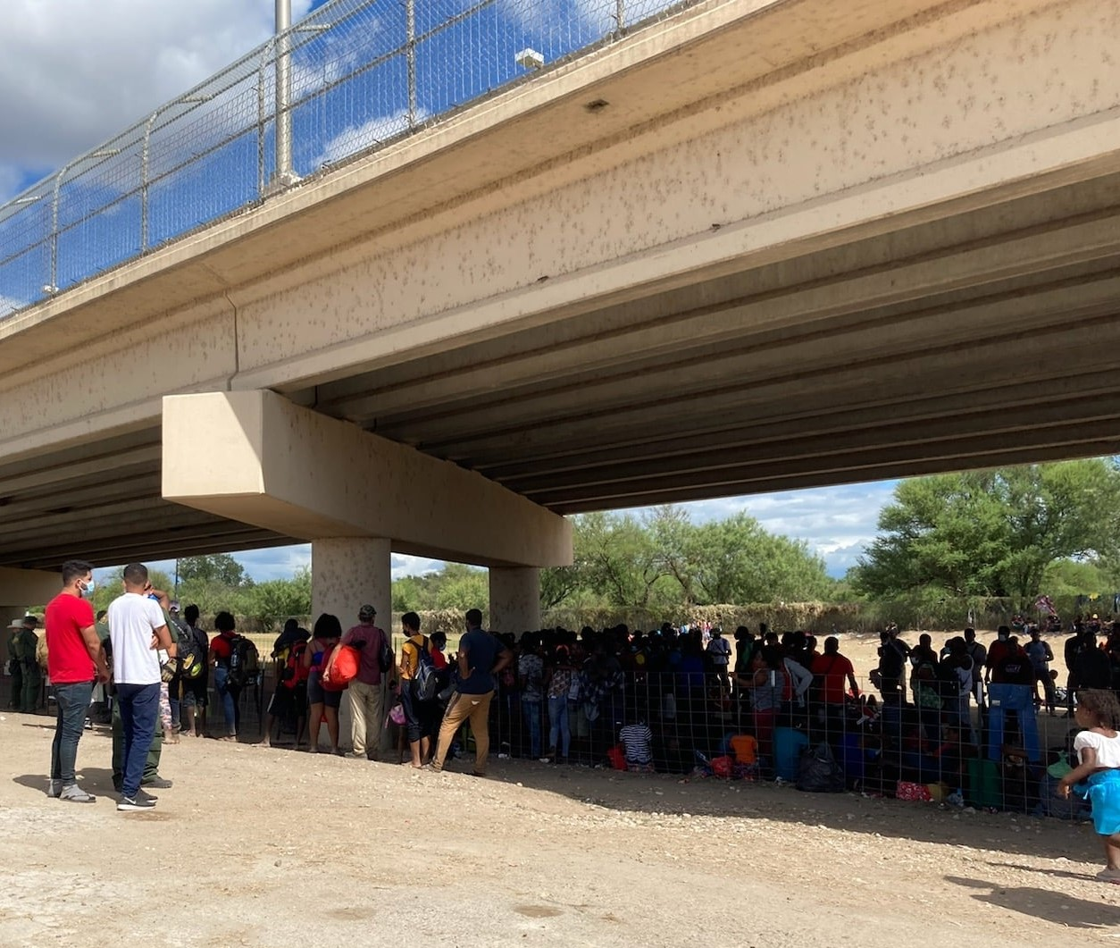 Thousands of migrants, mostly Haitian, Cubans, and Venezuelans have arrived in Del Rio, Texas, in the last two days. (U.S. Rep. Tony Gonzales, R-Texas)