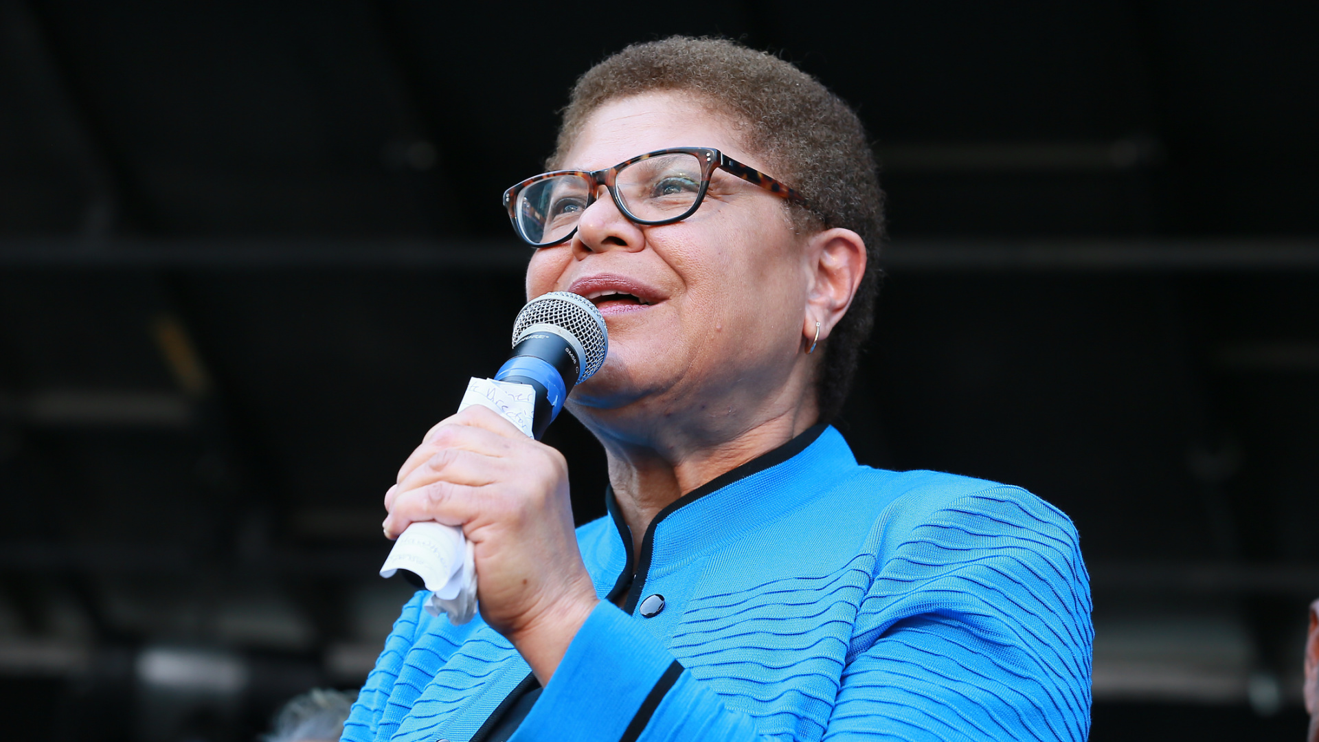 Congresswoman Karen Bass attends the official unveiling of City Of Los Angeles' Obama Boulevard in honor of the 44th President of the United States of America on May 4, 2019 in Los Angeles. (Leon Bennett/Getty Images)