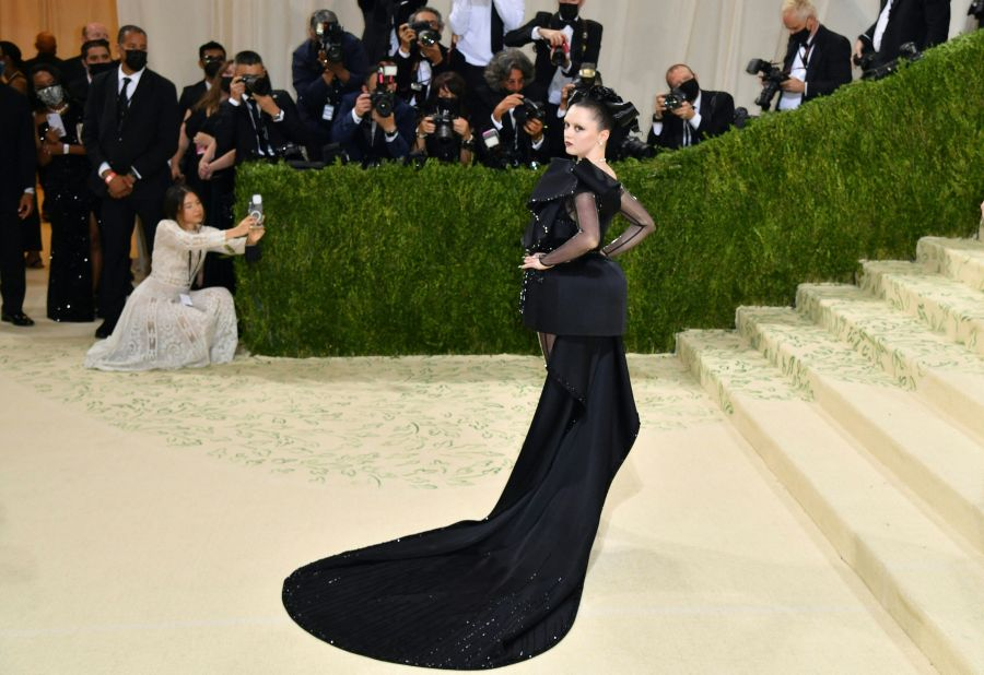 English actress Maisie Williams arrives for the 2021 Met Gala at the Metropolitan Museum of Art on Sept. 13, 2021, in New York. (ANGELA WEISS/AFP via Getty Images)