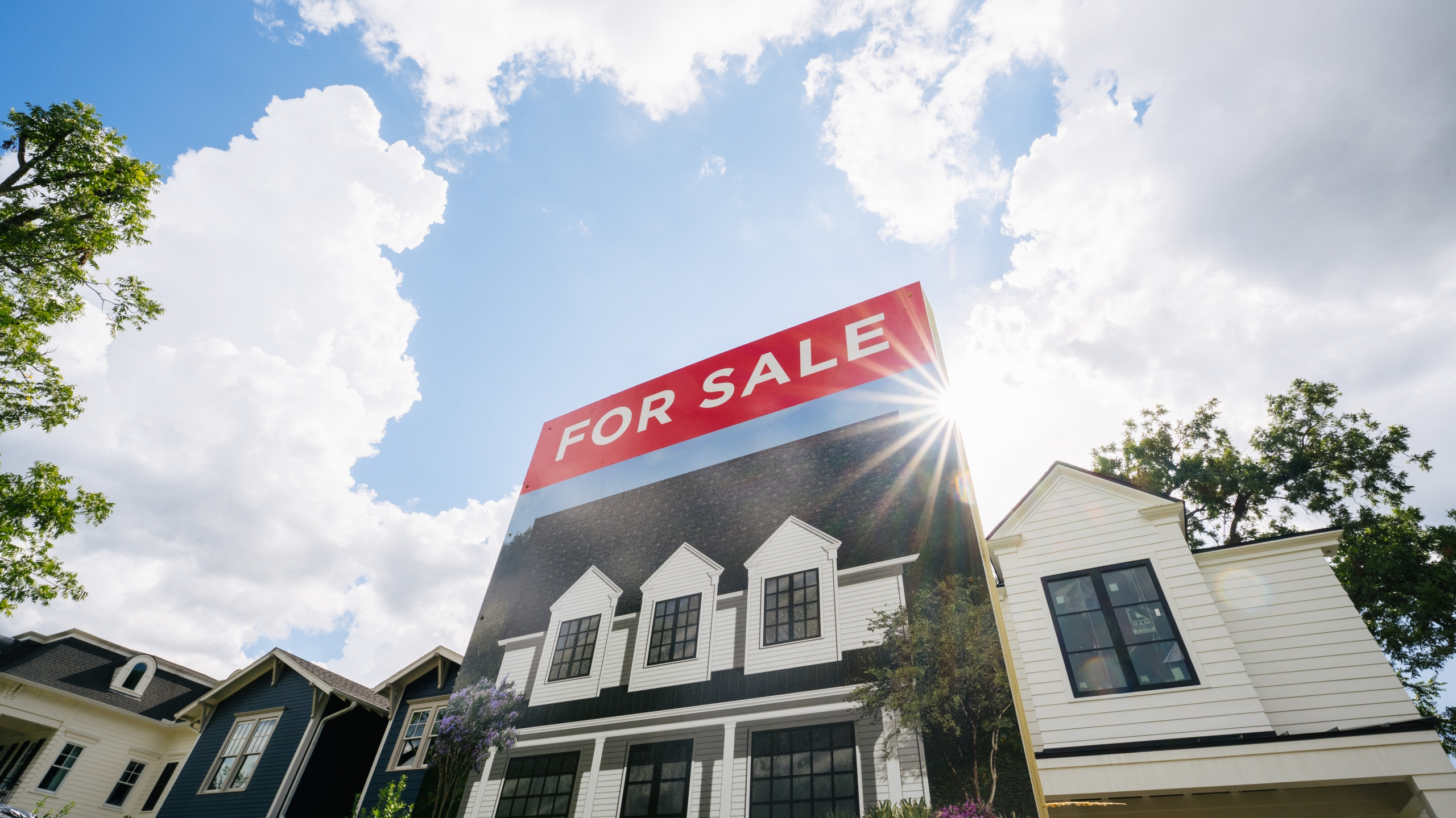 A home, available for sale, is shown on August 12, 2021 in Houston, Texas. (Brandon Bell/Getty Images)