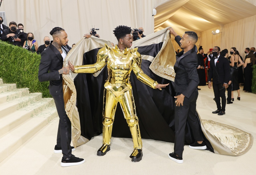 Lil Nas X attends The 2021 Met Gala Celebrating In America: A Lexicon Of Fashion at Metropolitan Museum of Art on Sept. 13, 2021, in New York City. (Mike Coppola/Getty Images)