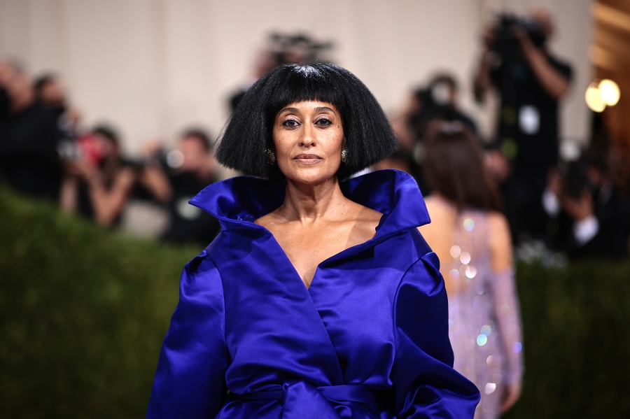 Tracee Ellis Ross attends The 2021 Met Gala Celebrating In America: A Lexicon Of Fashion at Metropolitan Museum of Art on Sept. 13, 2021, in New York City. (Dimitrios Kambouris/Getty Images for The Met Museum/Vogue )