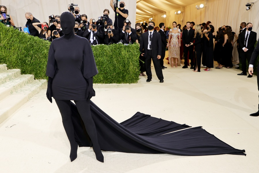 Kim Kardashian attends The 2021 Met Gala Celebrating In America: A Lexicon Of Fashion at Metropolitan Museum of Art on Sept. 13, 2021, in New York City. (Mike Coppola/Getty Images)