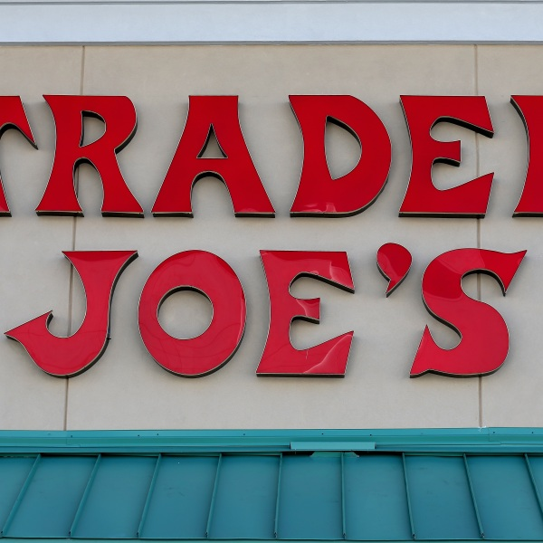 This file photo shows a Trader Joe's sign on Oct. 18, 2013 in Florida. (Joe Raedle/Getty Images)