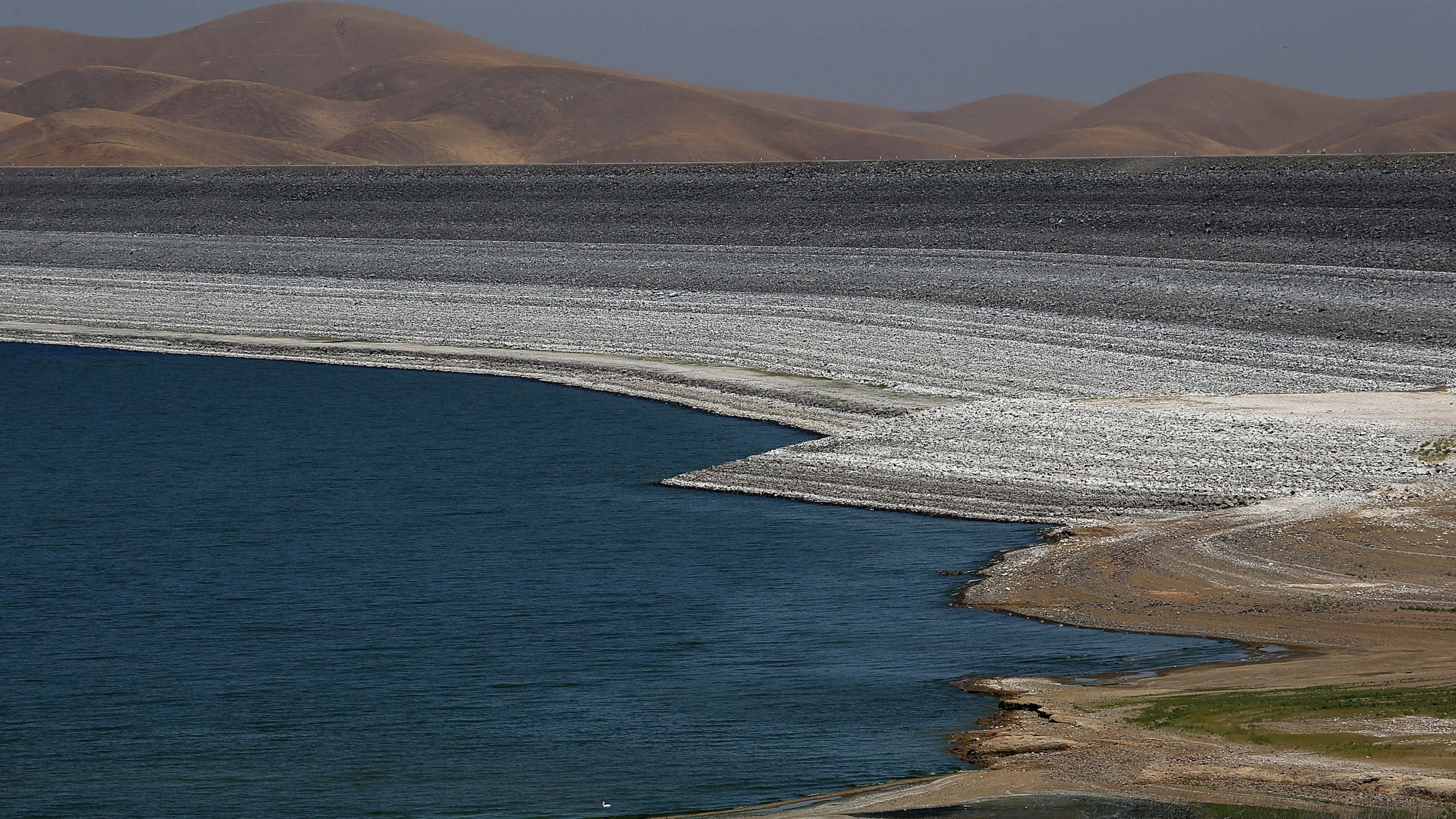 The San Luis Reservoir is seen in a file photo. (Justin Sullivan/Getty Images)