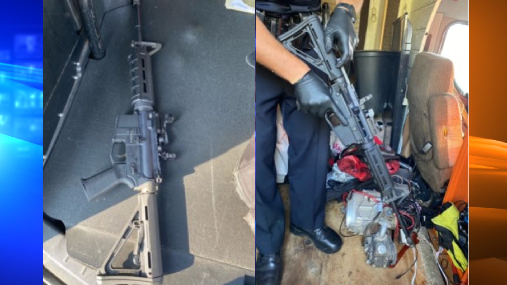 """The Los Angeles Police Department released these images on Sept. 30, 2021, showing a """"ghost gun"""" discovered while officers searched a stolen motorhome in North Hollywood."""