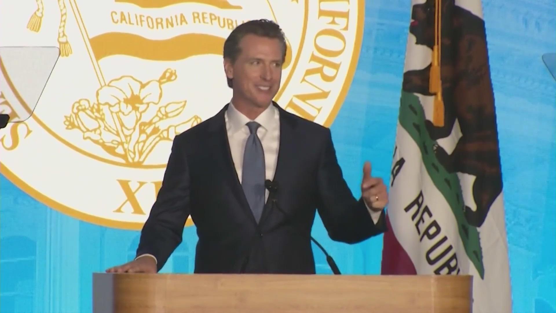 Gov. Gavin Newsom, shown in this undated photo, faces the voters on Sept. 14, 2021. (KTLA)
