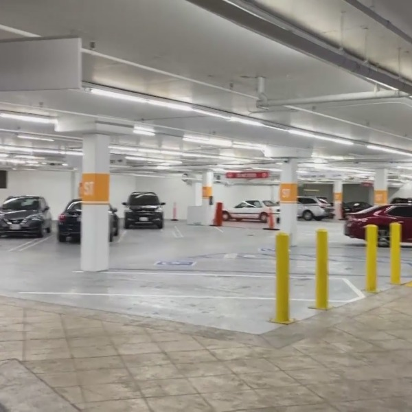A woman says she was assaulted and disparaged for being Asian in a Pico-Robertson parking garage on Sept. 22, 2021. (KTLA)