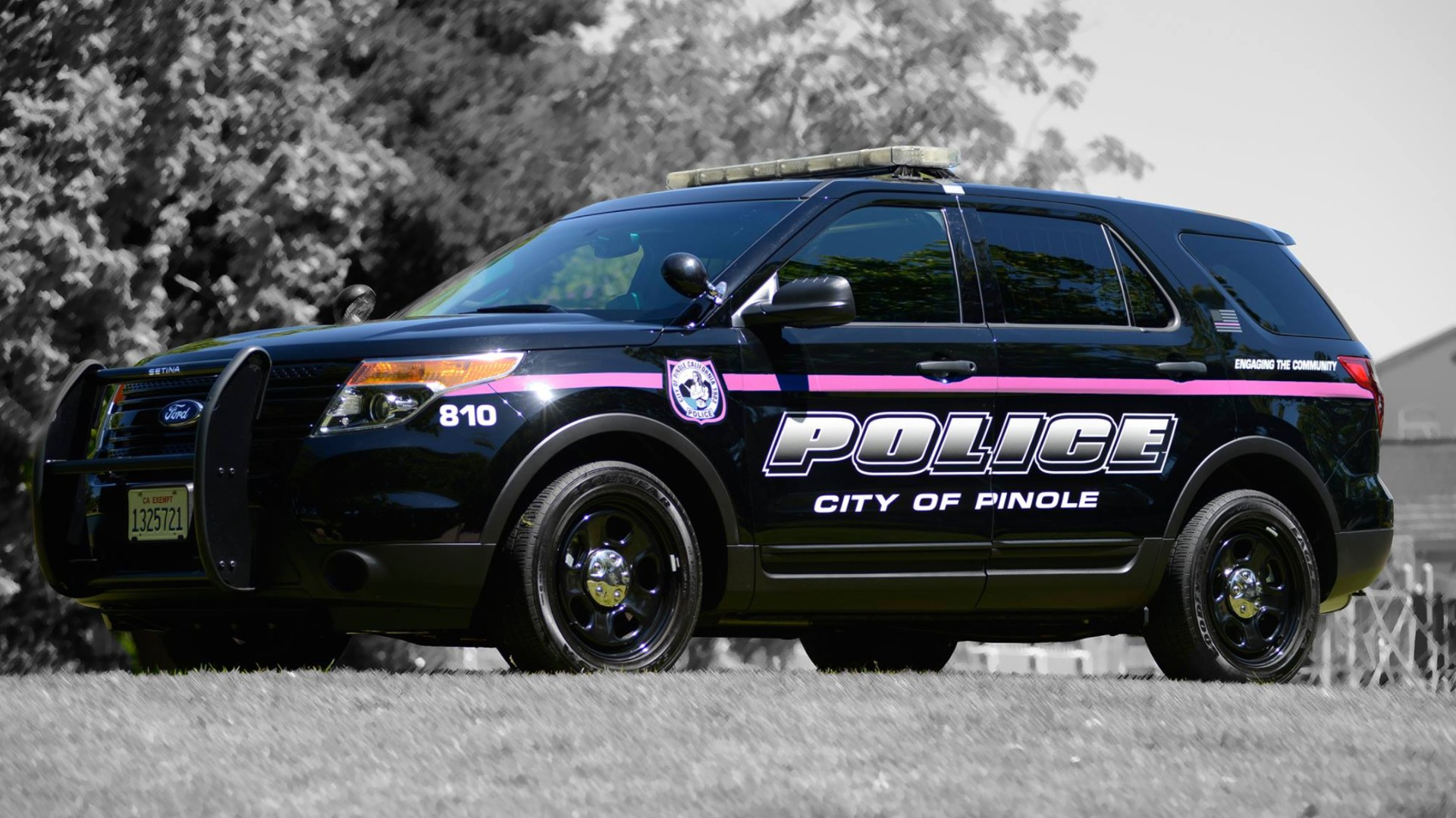 A Pinole Police Department SUV is seen in a photo posted on the agency's Facebook page.