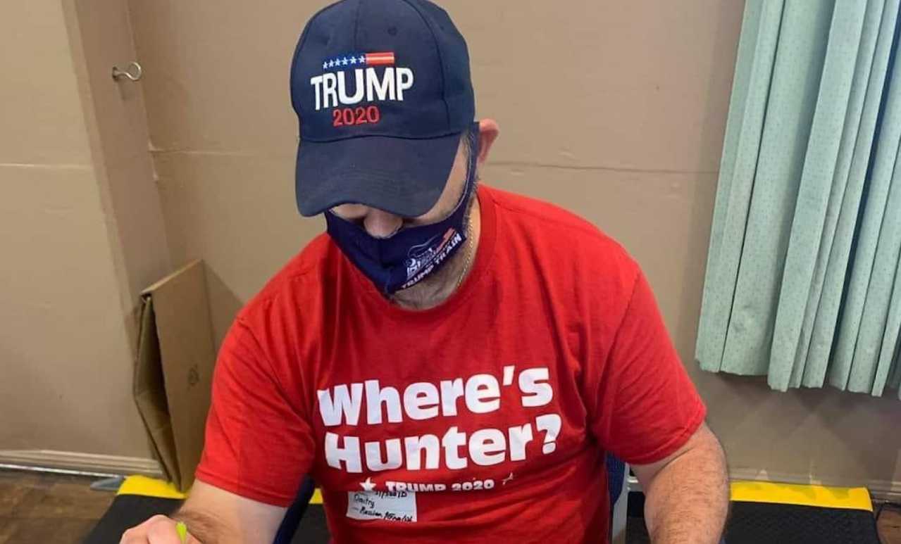 CA recall election worker removed from WeHo polling place for wearing Trump shirt, hat - KTLA Los Angeles