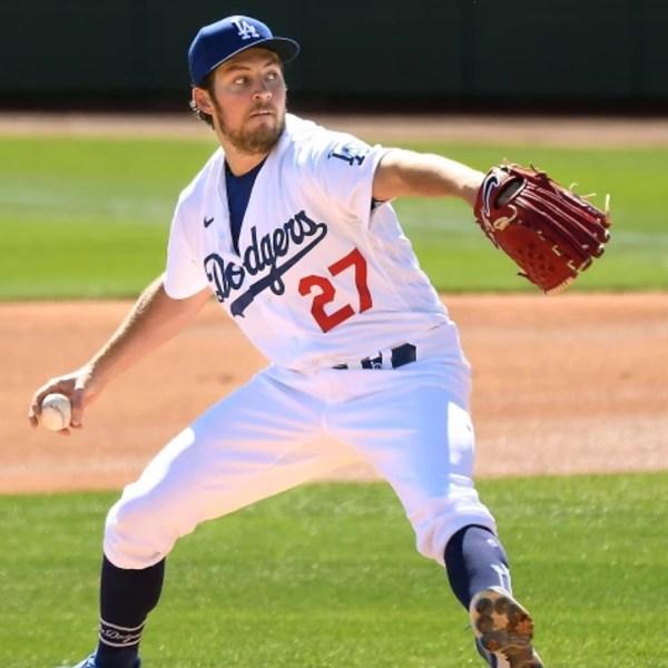 Dodgers pitcher Trevor Bauer's leave was extended Friday. (Wally Skalij / Los Angeles Times)
