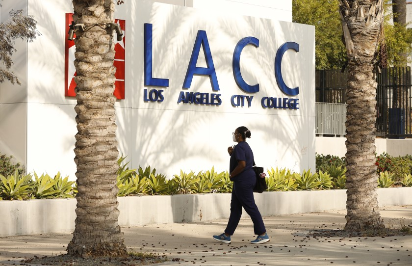 Los Angeles City College District is seen in an undated photo. (Al Seib/Los Angeles Times)