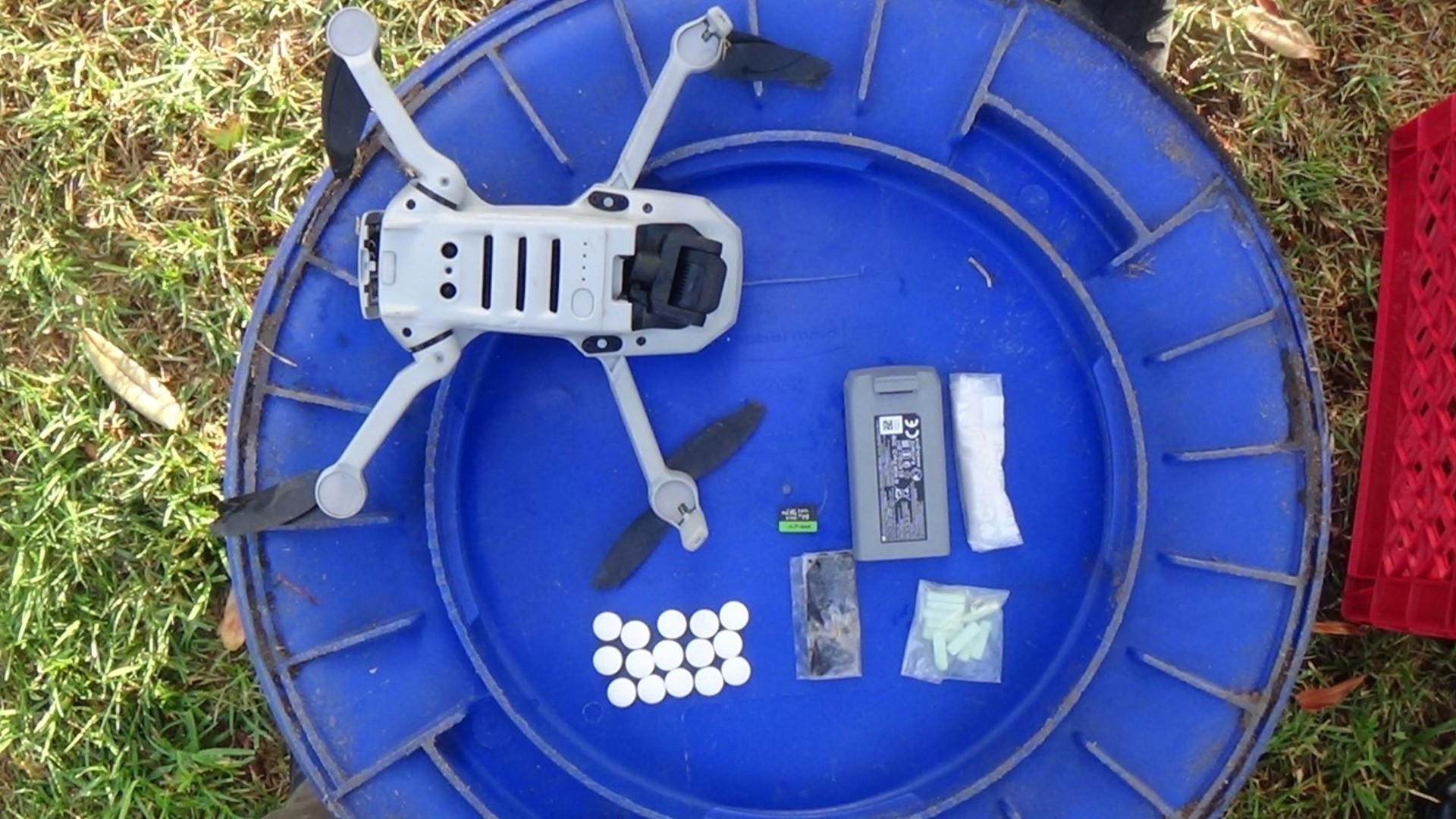 The Orange County Sheriff's Department released this photo of the drone that landed at the Theo Lacy Facility in Orange.