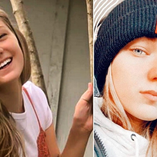 """This combo of photos provided by FBI Denver via @FBIDenver shows Gabrielle """"Gabby"""" Petito. (Courtesy of FBI Denver via AP)"""