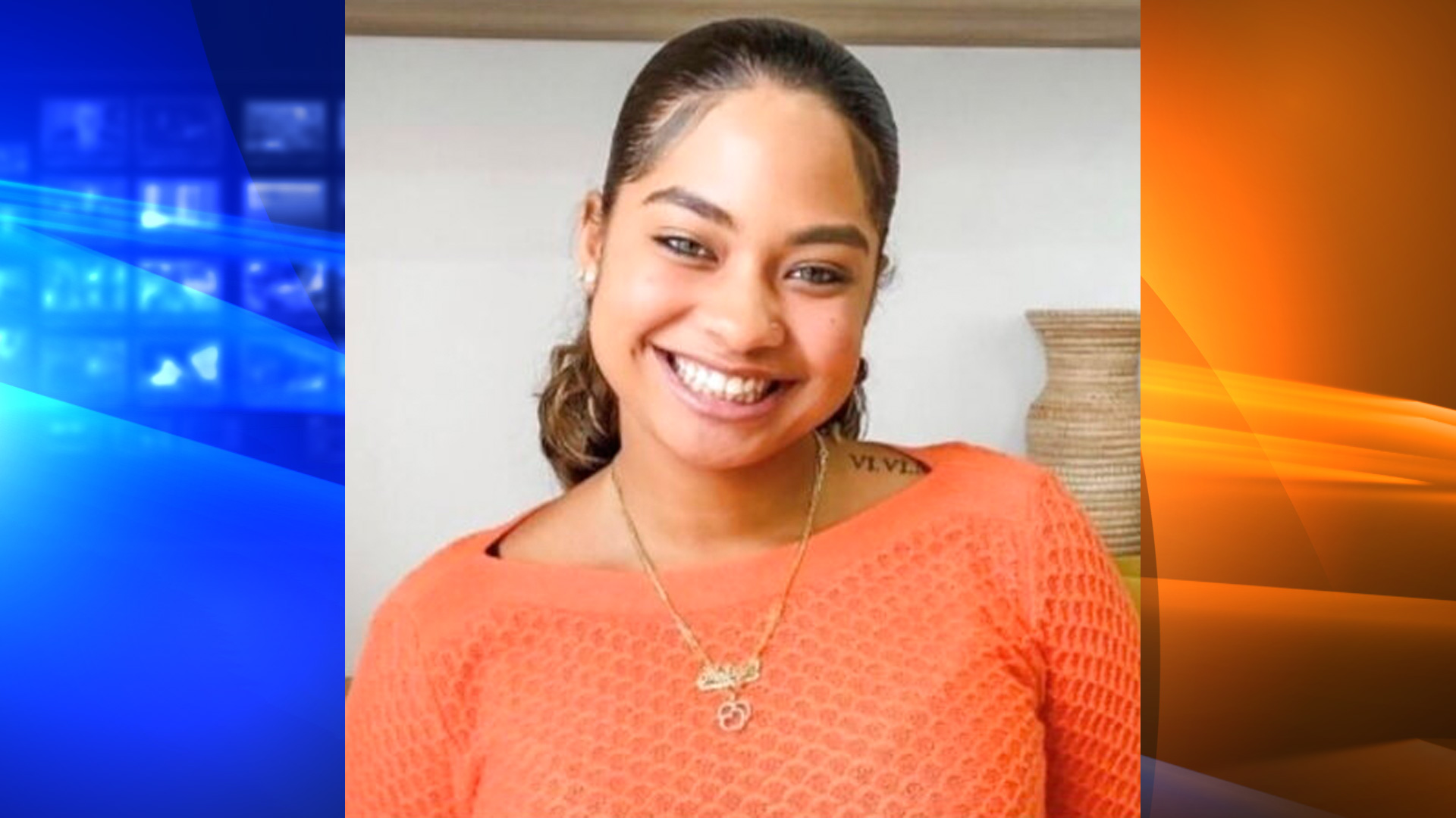 This image provided by the Orange County Sheriff's Office in Orlando, Fla., shows a part of a missing persons poster with an image of missing student Miya Marcano.