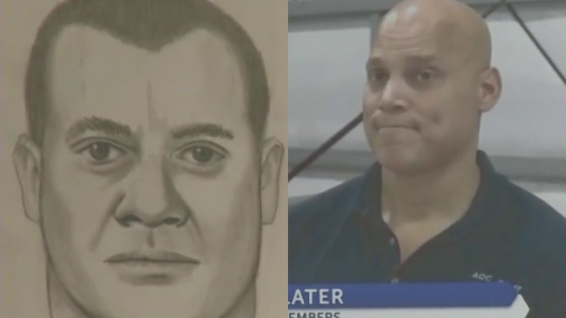 A sketch of a sexual assault suspect previously released by the Orange County Sheriff's Department is seen next to a photo of Robert Daniel Yucas released on Sept. 20, 2021.