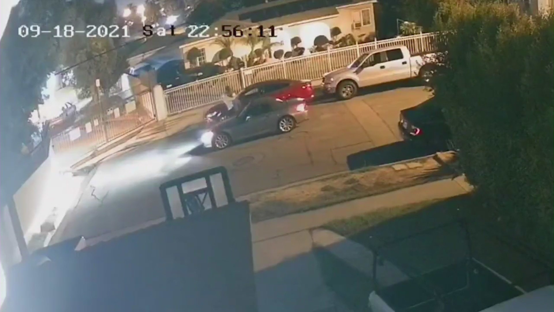 Surveillance video released by police shows the possible abduction of a woman in Bell gardens on Sept. 18, 2021.