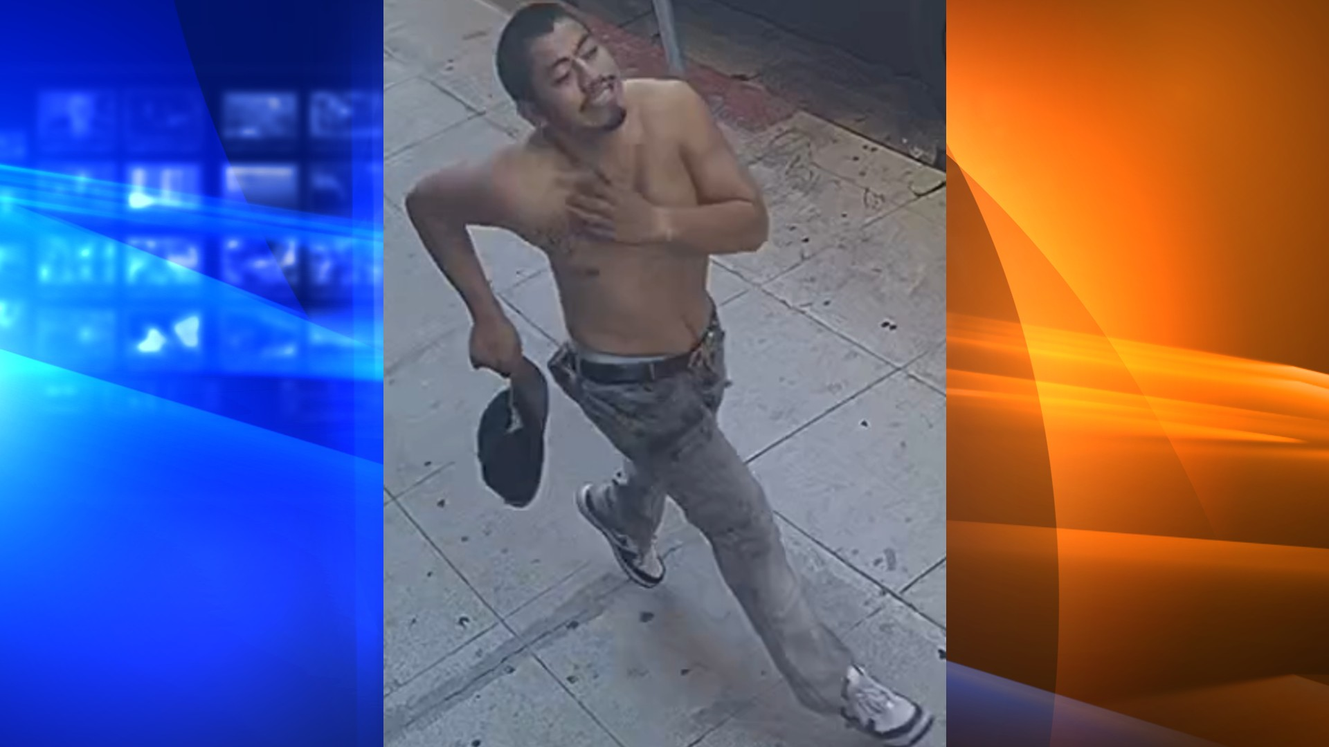 The LAPD is seeking a man believed to have struck a woman riding a rental electric scooter in downtown Los Angeles on Oct. 27, 2021. (LAPD)