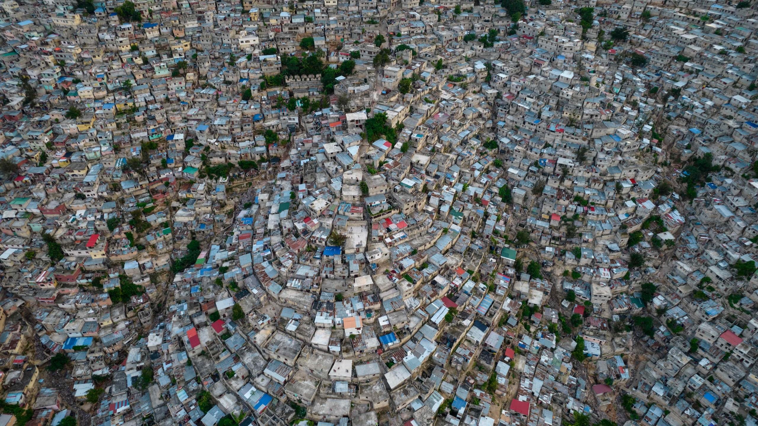 A view of the densely populated Jalousie neighborhood of Port-au-Prince, Tuesday, Sept. 28, 2021. (AP Photo/Rodrigo Abd, file)