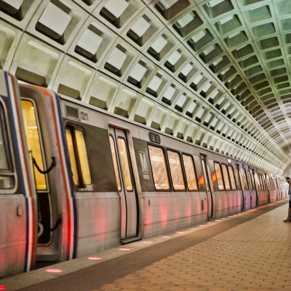 In this March 12, 2015 file photo, passengers wait on the platform before boarding a train at the U Street Metro Station in Washington, part of the public mass transit network for Washington. (AP Photo/Pablo Martinez Monsivais)