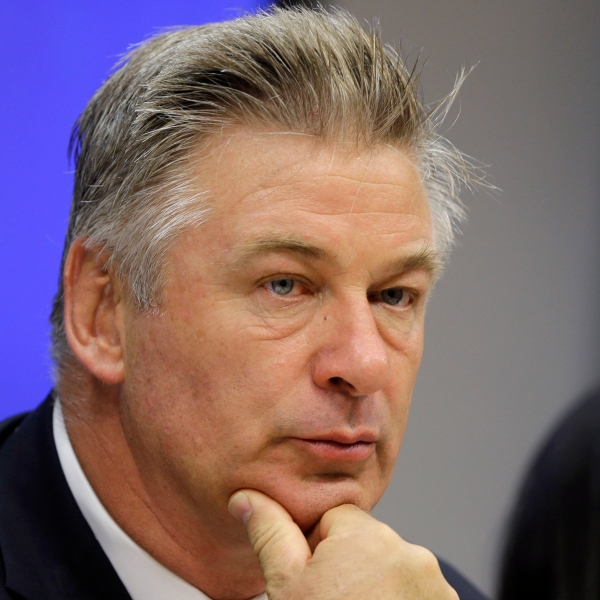 """In this Sept. 21, 2015, file photo, actor Alec Baldwin attends a news conference at United Nations headquarters. Experts predict a tremendous legal fallout after Baldwin pulled the trigger on a prop gun while filming """"Rust"""" in New Mexico and unwittingly killed a cinematographer and injured a director. (AP Photo/Seth Wenig, File)"""